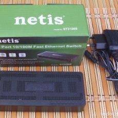 Segunda Mano: NETIS ST31108S PUERTOS ETHERNET RJ45 A 10/100 MBPS. Lote 177842387