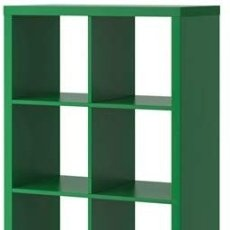 Segunda Mano: ¡¡2 ÚLTIMOS DÍAS!! 4 ESTANTERÍAS DE IKEA MODELO KALLAX. VERDES.. Lote 178311516
