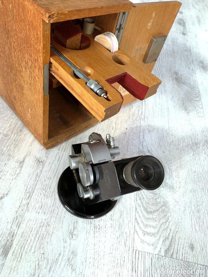 Segunda Mano: IMPONENTE MICROSCOPIO CARL ZEISS REFRACTOMETRO VINTAGE AÑOS 60 COLECCIÓN - Foto 4 - 178842940