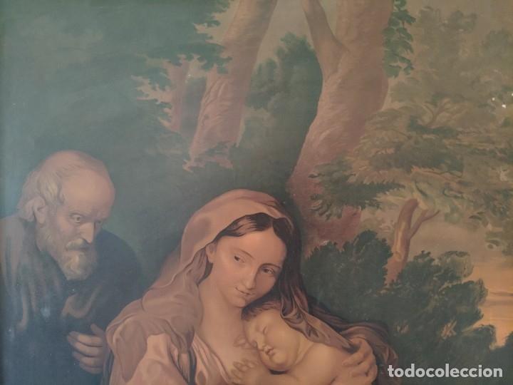 Segunda Mano: PAPEL SOBRE LIENZO VIRGEN CON NIÑO - 1000-043 - Foto 10 - 43428731