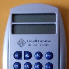 Segunda Mano: CALCULADORA CONVERSORA EURO PESETAS - CONSELL COMARCAL ALT PENEDES - 11 X 7 CMS. Lote 179217636