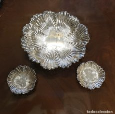 Segunda Mano: JUEGO DE TRES PLATOS DE PLATA . Lote 179559733