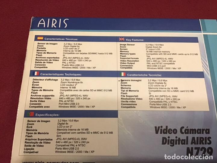 Segunda Mano: VIDEOCÁMARA AIRIS N729 - Prácticamente nueva con dos baterias - Foto 7 - 180280873