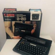Segunda Mano: CANON S-50 ELECTRONIC TYPEWRITER. Lote 180859088