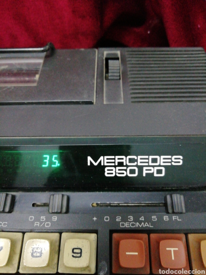 Segunda Mano: Antigua calculadora electrónica marca Mercedes 850 PD - Foto 2 - 181481707