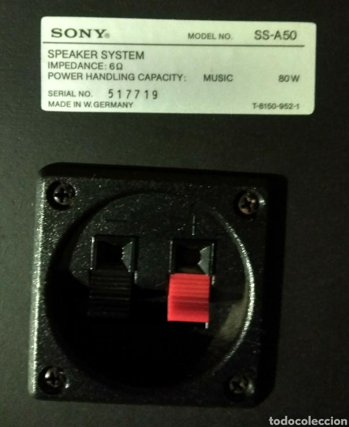 Segunda Mano: 2 Altavoces. Sony SS - A50 de 80w. 3 vías. Años 80. - Foto 4 - 181966702