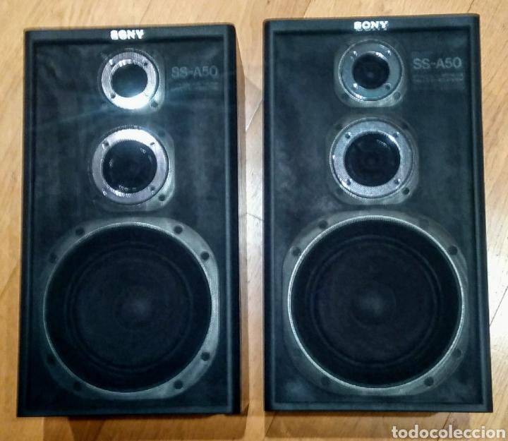 Segunda Mano: 2 Altavoces. Sony SS - A50 de 80w. 3 vías. Años 80. - Foto 2 - 181966702