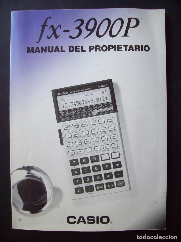 MANUAL DEL PROPIETARIO CALCULADORA CASIO FX-3900P (Segunda Mano - Otros)