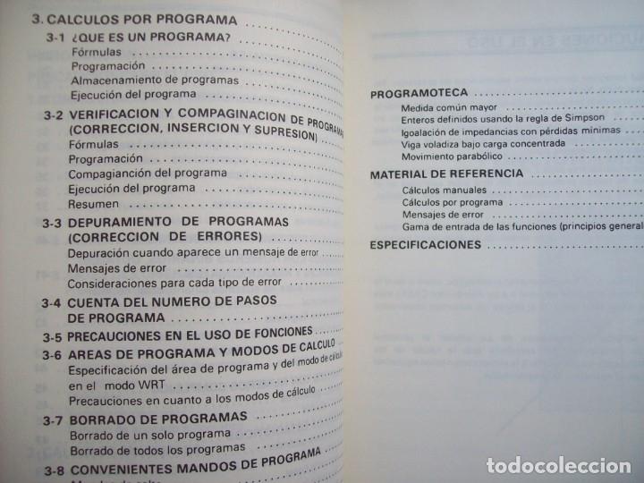 Segunda Mano: MANUAL DEL PROPIETARIO CALCULADORA CASIO FX-3900P - Foto 3 - 182276611