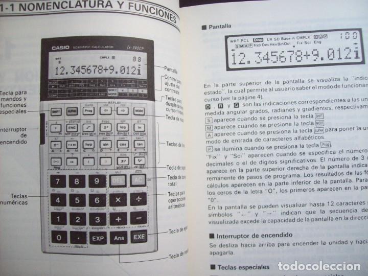 Segunda Mano: MANUAL DEL PROPIETARIO CALCULADORA CASIO FX-3900P - Foto 4 - 182276611