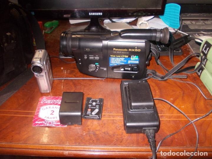 VIDEO CÁMARA PANASONIC RX50 Y VIDEO CÁMARA AIRIS N729, LEER DESCRIPCIÓN (Segunda Mano - Artículos de electrónica)