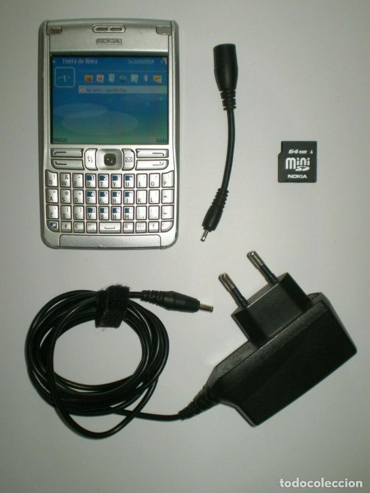 TELÉFONO NOKIA E61 LIBRE - FUNCIONADO CON CARGADOR Y TARJETA MINI SD DE 64MB (Segunda Mano - Artículos de electrónica)