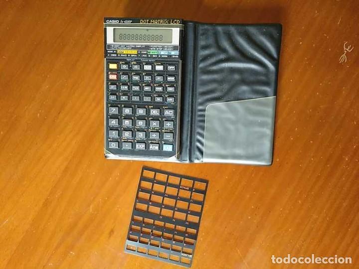 CALCULADORA CASIO FX-4200P SCIENTIFIC CALCULATOR CON PLANTILLA ADICIONAL DE TECLADO, FUNCIONANDO (Segunda Mano - Artículos de electrónica)