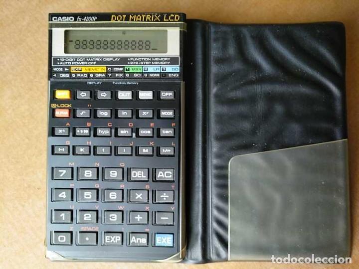 Segunda Mano: CALCULADORA CASIO fx-4200P SCIENTIFIC CALCULATOR CON PLANTILLA ADICIONAL DE TECLADO, FUNCIONANDO - Foto 76 - 183400741
