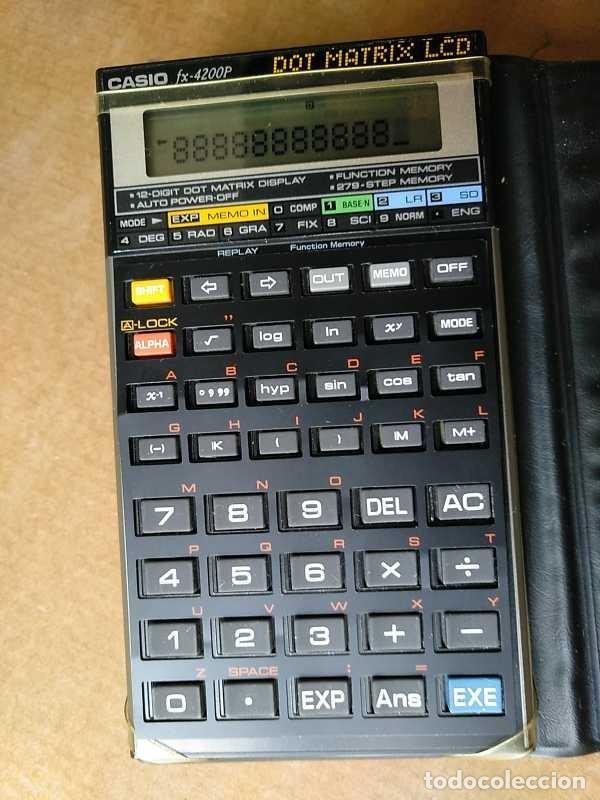 Segunda Mano: CALCULADORA CASIO fx-4200P SCIENTIFIC CALCULATOR CON PLANTILLA ADICIONAL DE TECLADO, FUNCIONANDO - Foto 79 - 183400741
