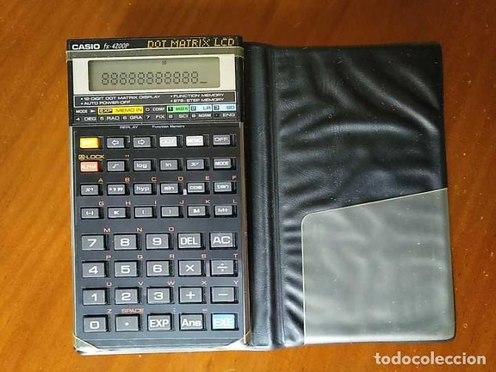 Segunda Mano: CALCULADORA CASIO fx-4200P SCIENTIFIC CALCULATOR CON PLANTILLA ADICIONAL DE TECLADO, FUNCIONANDO - Foto 94 - 183400741
