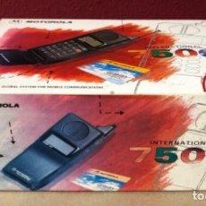 Segunda Mano: TELÉFONO MÓVIL MOTOROLA INTERNATIONAL 7500. CON LA CAJA ORIGINAL. Lote 183445336