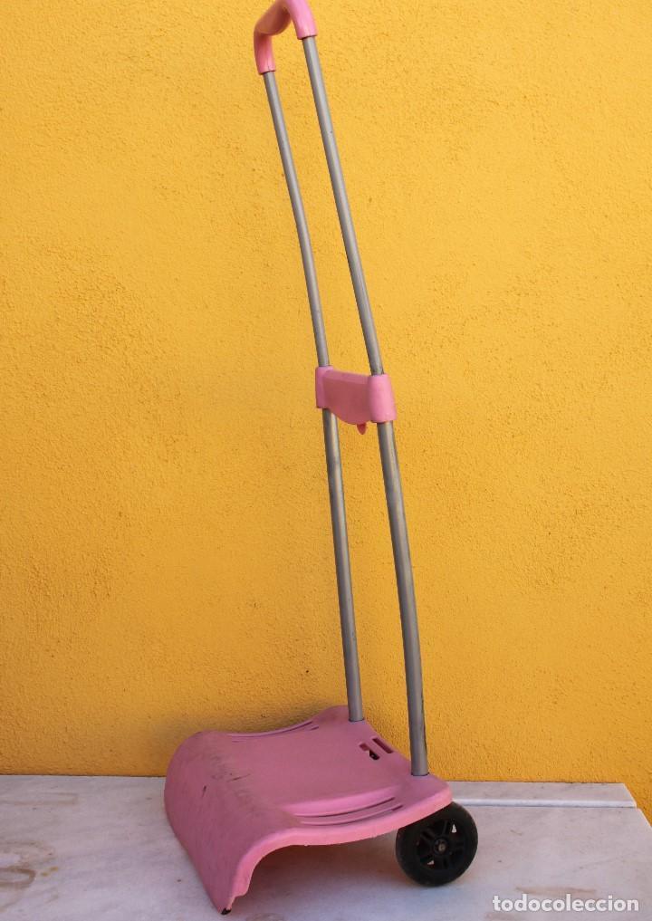 Segunda Mano: Carro escolar para la mochila de metal en rosa - Foto 3 - 183700495