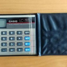 Segunda Mano: CALCULADORA DE BOLSILLO CASIO LC-787G ELECTRONIC CALCULATOR. Lote 183858006