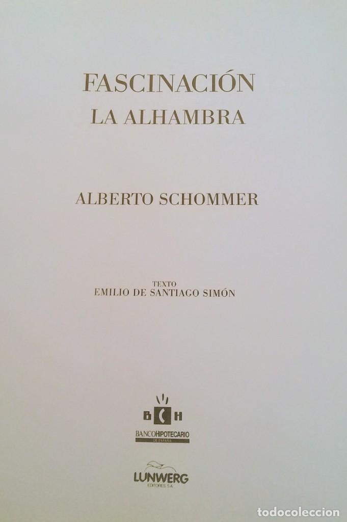 Segunda Mano: LIBRO FASCINACION LA ALHAMBRA ALBERTO SCHONNER - Foto 3 - 184457436