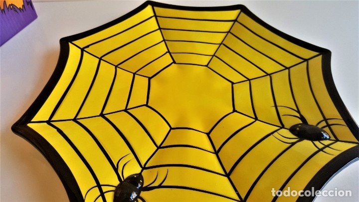 Segunda Mano: CENTRO DE MESA Y O JUEGO DE PORCELANA HALLOWEEN MAGIC SPIDER DIP PLATE - 31.CM DIAMETRO APROX - Foto 6 - 184585937