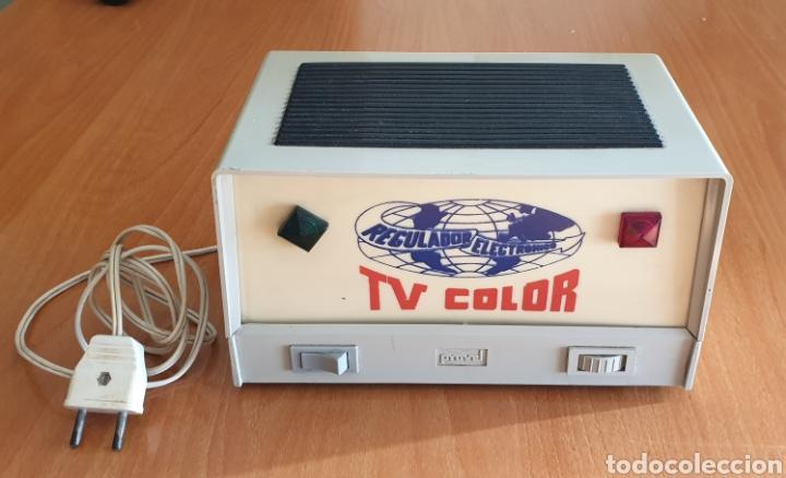 REGULADOR ELECTRÓNICO PROVEL PARA TV COLOR - 125V/220V (Segunda Mano - Artículos de electrónica)