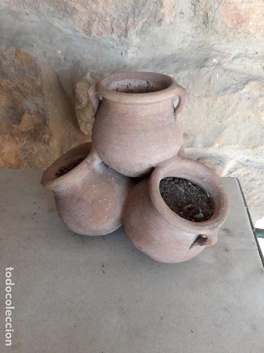 TIESTO DE BARRO DE CUATRO CUERPOS (Segunda Mano - Hogar y decoración)