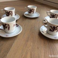 Segunda Mano: CONJUNTO DE 5 TAZAS Y 5 PLATOS DE PORCELANA DE CAFÉS DELTA. Lote 190014138