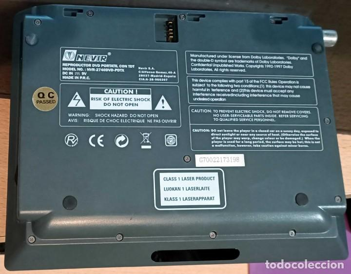Segunda Mano: Reproductor de DVD portátil y Tele Nevir NVR-2740 DVD-PDTX, CON TDT HD - VINTAGE - Colección - Foto 8 - 190875071