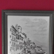 Segunda Mano: CUADRO LITOGRAFIA PLATEADA. Lote 190926115
