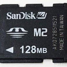 Segunda Mano: TARJETA SANDISK M2 128MB.. Lote 191786653