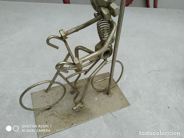 Segunda Mano: escultura figura bicicleta con ciclista , original, decorativa - Foto 4 - 191982888