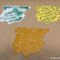 Segunda Mano: MAPA ESPAÑA PARA COLEGIO 3 UNIDADES. Lote 191474686