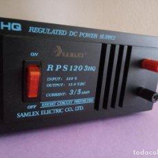 Segunda Mano: FUENTE DE ALIMENTACIÓN SAMLEX ELECTRIC - HQ REGULATED DC POWER SUPPLY - RPS 120 3HQ . Lote 192413575