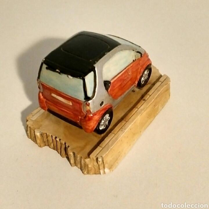 Segunda Mano: Miniatura coche Smart pisapapeles adorno - resina piedra - Foto 3 - 192989381