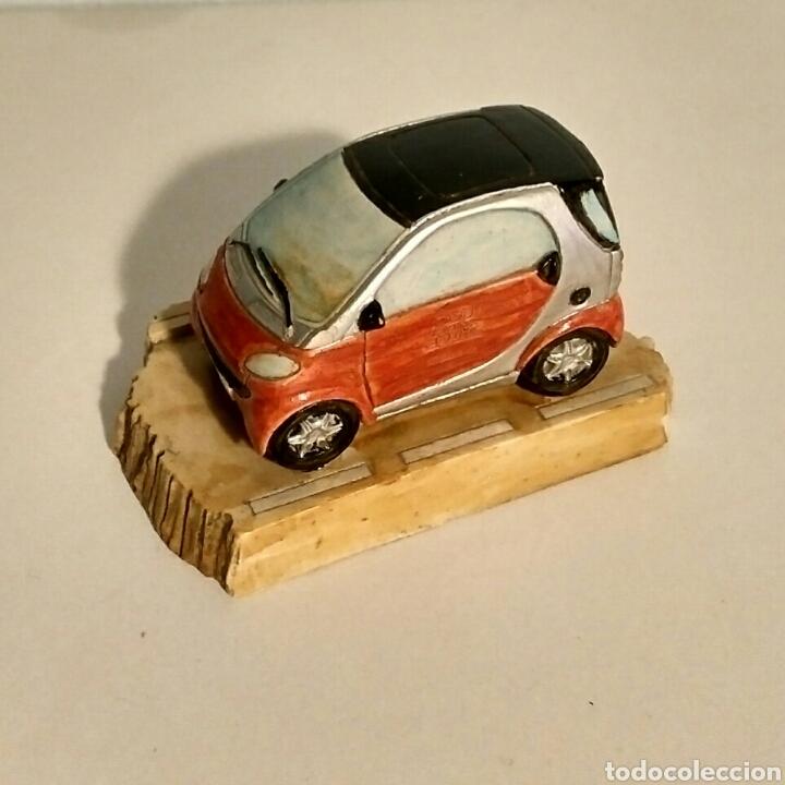 Segunda Mano: Miniatura coche Smart pisapapeles adorno - resina piedra - Foto 4 - 192989381