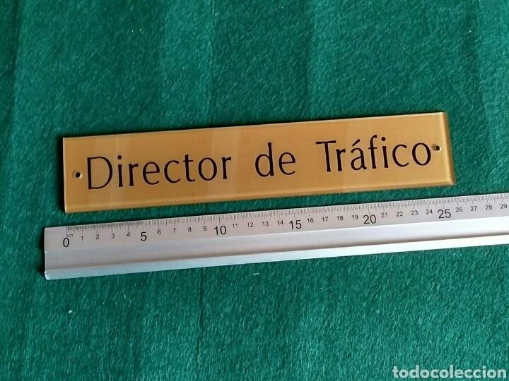 Segunda Mano: Director de Tráfico - letrero placa rótulo puerta despacho en metacrilato - Foto 2 - 193632805