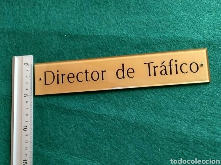 Segunda Mano: Director de Tráfico - letrero placa rótulo puerta despacho en metacrilato - Foto 3 - 193632805