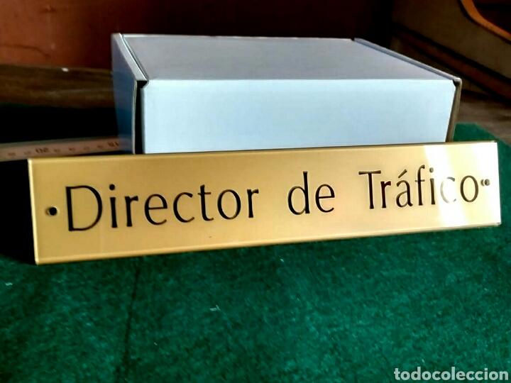 Segunda Mano: Director de Tráfico - letrero placa rótulo puerta despacho en metacrilato - Foto 4 - 193632805