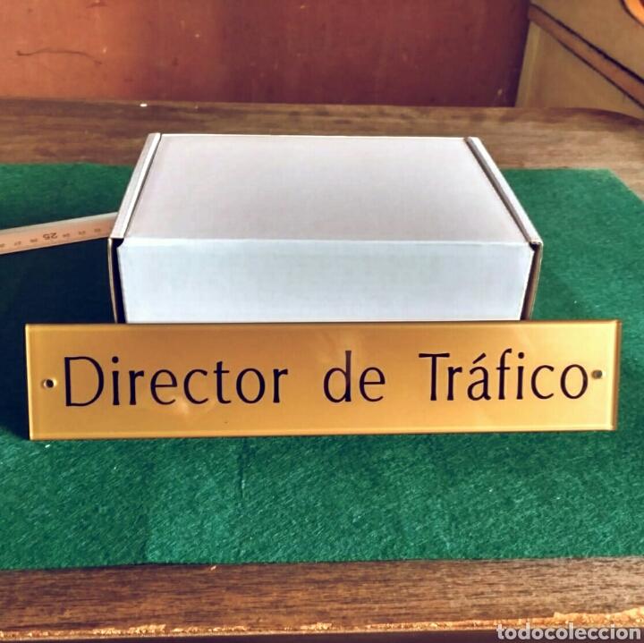 DIRECTOR DE TRÁFICO - LETRERO PLACA RÓTULO PUERTA DESPACHO EN METACRILATO (Segunda Mano - Otros)