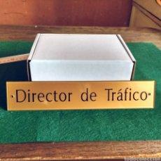 Segunda Mano: DIRECTOR DE TRÁFICO - LETRERO PLACA RÓTULO PUERTA DESPACHO EN METACRILATO. Lote 193632805