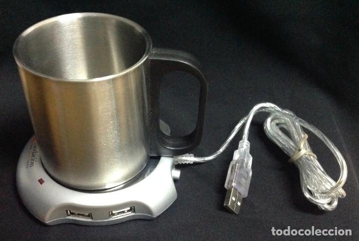USB HUB & WARMER, USB Y CALENTADOR DE RECIPIENTE, CONECTOR PARA 4 TERMINALES USB. NUEVO (Segunda Mano - Artículos de electrónica)