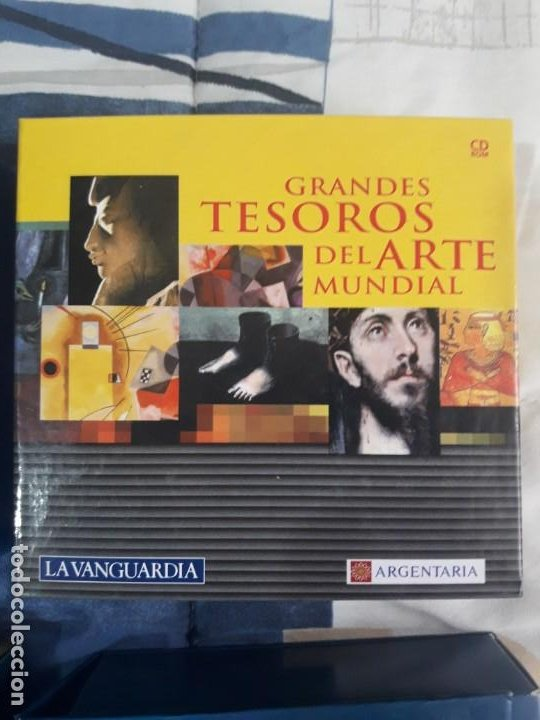 ENCICLOPEDIA MULTIMEDIA GRANDES TESOROS DEL ARTE MUNDIAL 12 CD-ROM (Segunda Mano - Otros)
