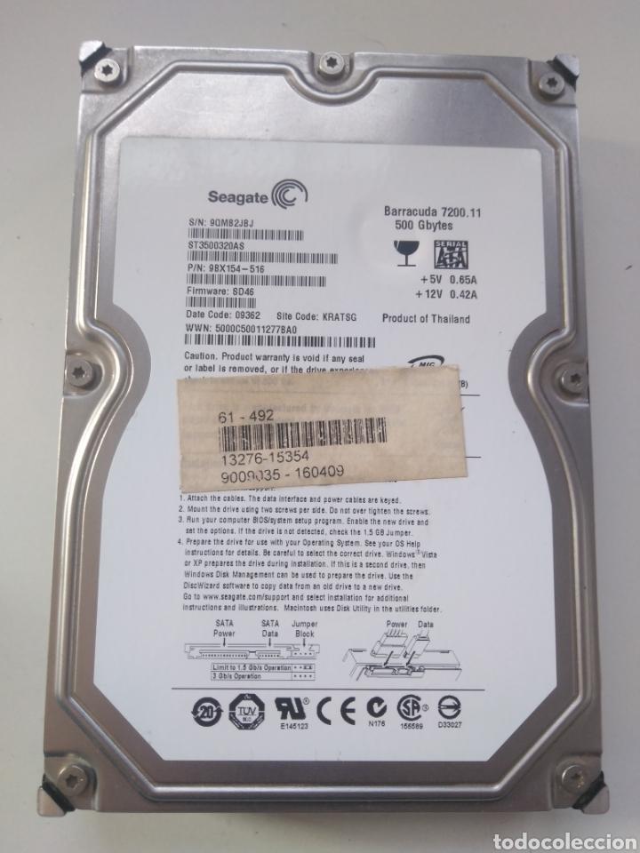 DISCO DURO SEAGATE 500 GB 3.5 SATA (Segunda Mano - Artículos de electrónica)