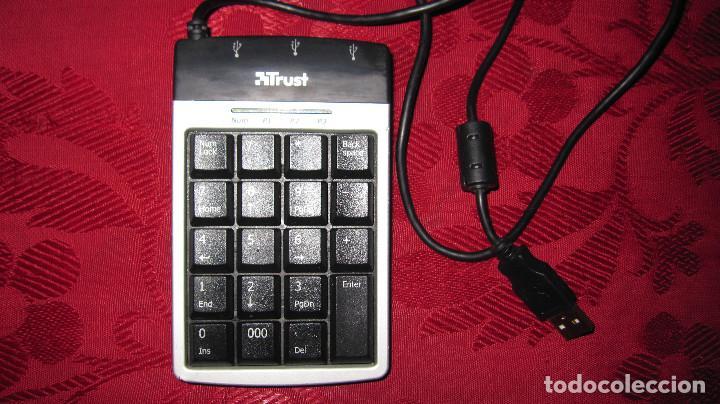 TRUST: TECLADO NUMERICO CONCENTRADOR USB, 3 PUERTOS. (Segunda Mano - Artículos de electrónica)