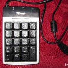 Segunda Mano: TRUST: TECLADO NUMERICO CONCENTRADOR USB, 3 PUERTOS. . Lote 194372790