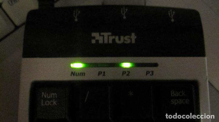 Segunda Mano: TRUST: TECLADO NUMERICO CONCENTRADOR USB, 3 PUERTOS. - Foto 3 - 194372790