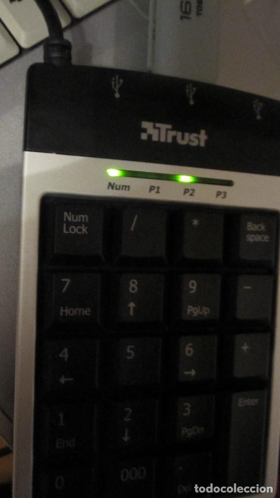 Segunda Mano: TRUST: TECLADO NUMERICO CONCENTRADOR USB, 3 PUERTOS. - Foto 4 - 194372790