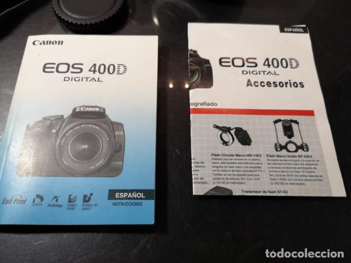 Segunda Mano: cámara Canon Eos 400d digital - Foto 7 - 194674621
