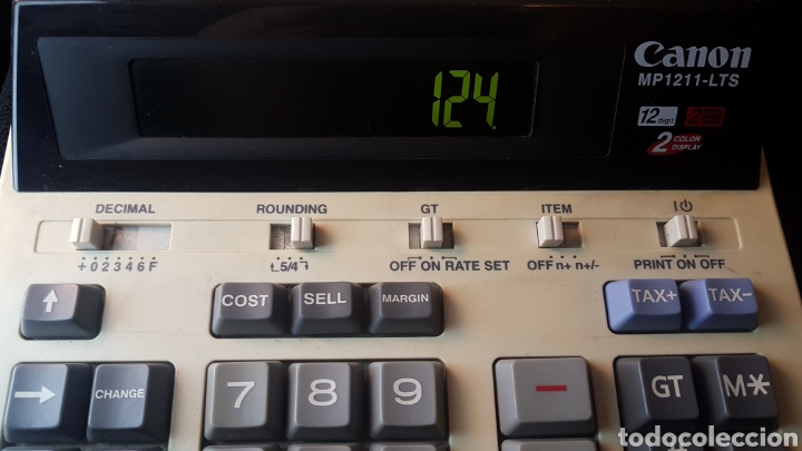 Segunda Mano: Calculadora canon mp 1211 lts..12 digitos..2 color print..2 color display - Foto 4 - 194733247
